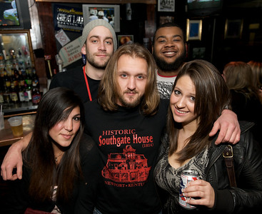 Kenzie, Will  Jonathan, Byron and Brittany of Cincinnati at Mac's Pizza Pub in Clifton for the Sugar Bowl