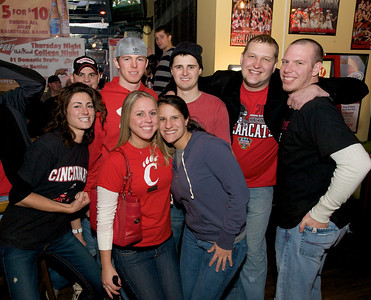 Friends gather at the Holy Grail in Clifton for the Sugar Bowl