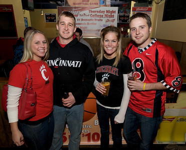 UC Students Jen, Troy, Maria and Kyle at the Holy Grail in Clifton for the Sugar Bowl
