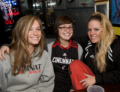 Annie Huseman, Marie Roos and Shelley Chrystal of Clifton at Mac's Pizza Pub in Clifton for the Sugar Bowl