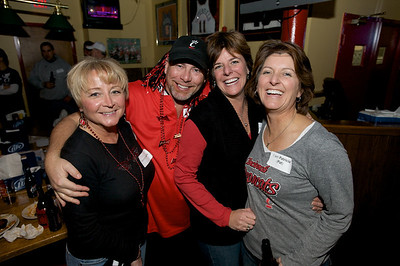 Susan and Dan Smith with Linda Paul and Pat Donnelly at the Holy Grail in Clifton for the Sugar Bowl