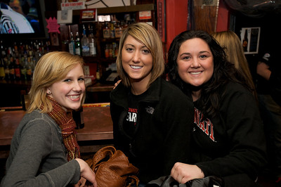 Alli, Sarah and Olivia of Clifton at Mac's Pizza Pub in Clifton for the Sugar Bowl