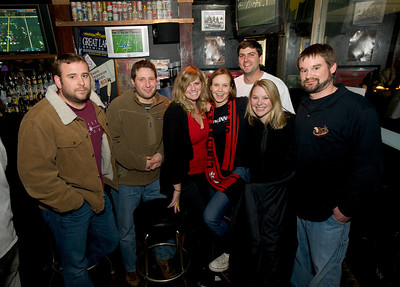 Dave, Ben, Lauren, Lynn, Brad, Amanda and Dave at Mac's Pizza Pub in Clifton for the Sugar Bowl