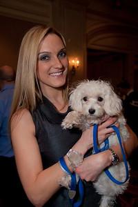 Stephanie Holloway (of DC) holding shelter dog Maximus