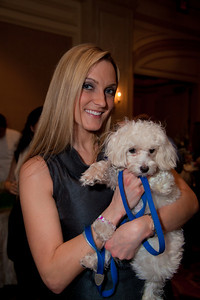 Stephanie Holloway (of DC) holding shelter dog Maximus