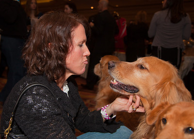 Debbie Keatley of Alexandria Virginia and her golden retriever Brinkley