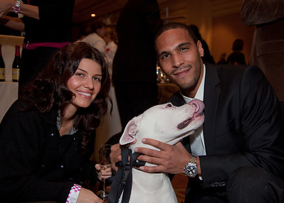 Petya Balevska and Nelkin Rincon  with their American Bulldog Moma