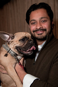 Viraj Gandhi (of New York City) and Kayden (a French bulldog)