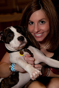 Tara deNicolas, WHS Director of Marketing and Communications with her dog Darby