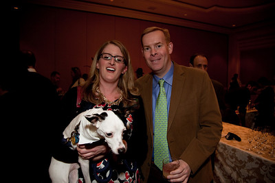 Adrianne Wojcieohowski and Tom McCann with Buddy. Members of Buddies and Adoptees