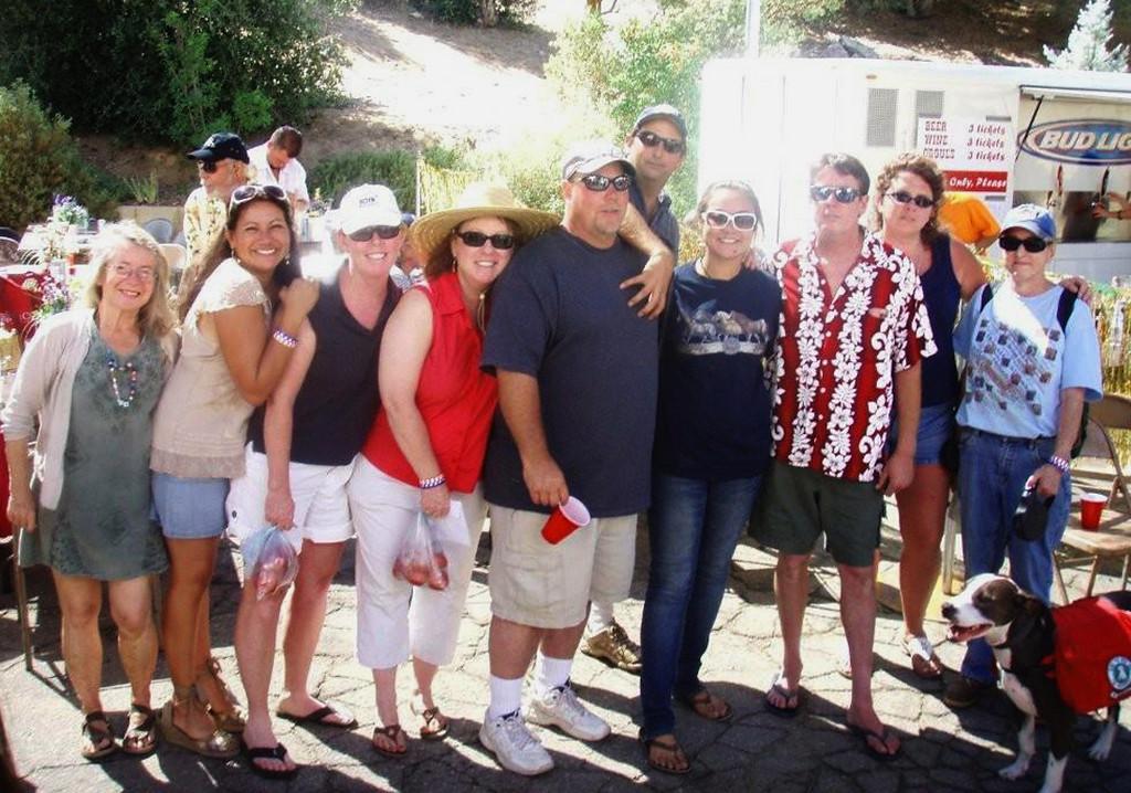 Maureen, Michelle, Lisa, Sharon, Chad, Jeff, Brittni, Steve, Julie, Cathy and Strider