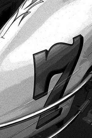 Car detail, B & W filter applied, A Summer's Place