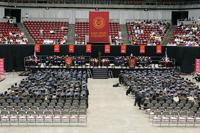 The 2006 summer graduating class during the 2006 Summer Graduation Commencement held in Hilton Coliseum on Saturday, August 05, 2006.