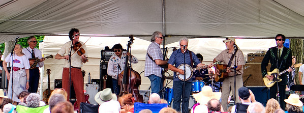 All in the Family workshop with the Good Brothers and the Sadies. Note: apologies for the washed-out quality of these shots. The white stage tents created a unique lighting situation!