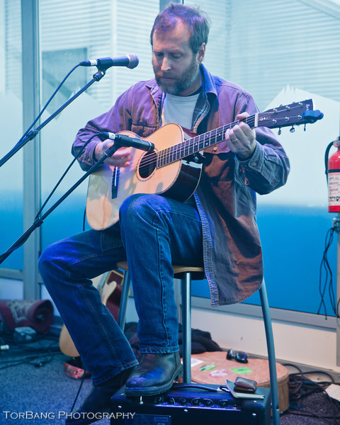 Musican Ned Oldham Playing some tunes at the HP Sundance House