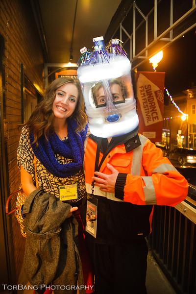 Crazy Character found on Main ST. With Hillary Baker Sundance, Park City