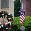 5/29/16 FITCHBURG-- A wreath outside St Anthony De Padua Church in Fitchburg to honor past veterans in celebration of Memorial Day.  Sentinel & Enterprise photo/Jeff Porter