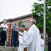 5/29/16 FITCHBURG--Rev. Leo-Paul LeBlanc addressing guests after Sunday Mass at St Anthony De Padua Church in Fitchburg to honor past veterans in celebration of Memorial Day.  Sentinel & Enterprise photo/Jeff Porter
