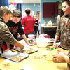 Submitted photo<br /> Baking dog treats was an unusual activity for these students.