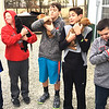 Submitted photo<br /> Sunman-Dearborn Middle School students made friends with puppies at the Ripley County Humane Society animal shelter in Osgood.