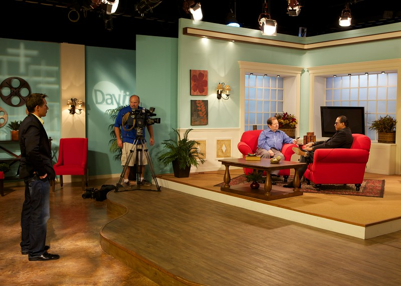 Billy Dee and Tony shooting an interview for NBC's Daytime.