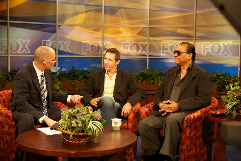 Tony, Billy Dee on Fox's Good Day Tampa Bay the morning of the Festival Kick-off