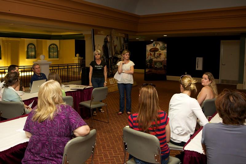 Briefing of SSFF 2010 volunteers by Joanie and Jasmine.