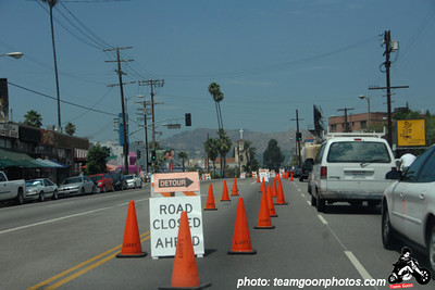 Arriving to see the roads blocked - Sunset Junction Street Festival - Silver Lake - Los Angeles, CA - August 2007
