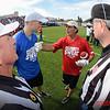 NFL Alumni Doug Flutie (red) and Kirk Cousins (Redskins) blue
