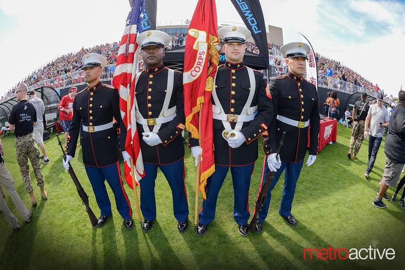 Marine Corp honor guard