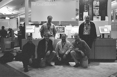 The CERN team at SC04.