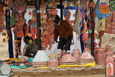 Items of sale at Suraj Kund Mela 2008, Haryana, North India. The Suraj Kund Mela is an annual fair held near Delhi. Folk dances, handicrafts and a lot of fun.