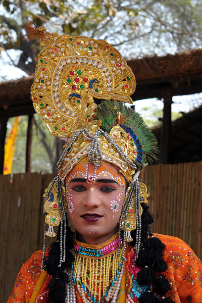 Shri Krishan. Dancers from Mathura who performed the Raas Leela of Bhagwan Krishna and Radha at the open theatre called Chaupal at Suraj Kund Mela 2008. Held in Haryana (outskirts of Delhi), North India the Suraj Kund Mela is an annual fair held near Delhi. Folk dances, handicrafts and a lot of fun.