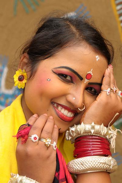 Sarita Mahanty, from Orissa performed the Sambhalpuri dance. Artists at the Surajkund Crafts Mela 2009, Haryana, North India. The Suraj Kund Mela is an annual fair held near Delhi. Folk dances, musical performances, handicrafts on display & sale and and a lot of fun & excitement for everyone.