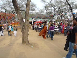 Food Court area of Surajkund Mela. Short audio-video clip of Surajkund Mela 2010, Haryana (near New Delhi), February, 2010