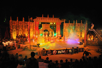 The performance of North East Octave Group added to the majestic splendour of the Mela. Octave 2010 brought the rich cultural diversity and hertiage from eight North-Eastern states of India - Assam, Meghalaya, Tripuar, Manipur, Mizoram, Nagaland, Arunachal Pradesh, and Sikkim. In association with Ministry of Culture, Government of India and North Central Zone Cultural Centre, Allahabad. This performance was the largest group performers at the Surjakund Crafts Mela 2010 held in February in Faridabad, Haryana, India.