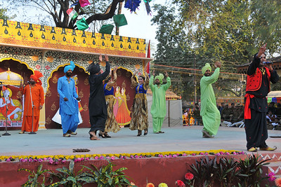 Punjabi bhangra from Punjab state performed by members of the Police Band at the open theatre called Chaupal at Suraj Kund Mela 2010 held in Haryana (outskirts of Delhi), North India. The Suraj Kund Mela is an annual fair held near Delhi.