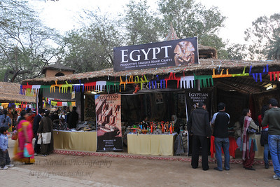 Egypt and other SAARC countries put up stalls selling various items.  Plenty of opportunity for shopping deals, bargains and purchases or just enjoy the performances at the Surjakund Crafts Mela 2010 held in February in Faridabad, Haryana, India.