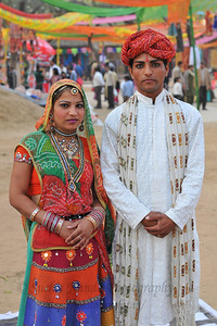 Rajasthani artists impress the foreign tourists as well as locals who took keen interest in the dance performances and were overwhelmed by the rich variety of cultures performing at the single platform of the Surjakund Mela 2010 held in February in Faridabad, Haryana, India.