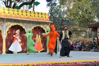 Bhangra from Punjab performed by members of the Police Band at the open theatre called Chaupal at Suraj Kund Mela 2010 held in Haryana (outskirts of Delhi), North India. The Suraj Kund Mela is an annual fair held near Delhi.