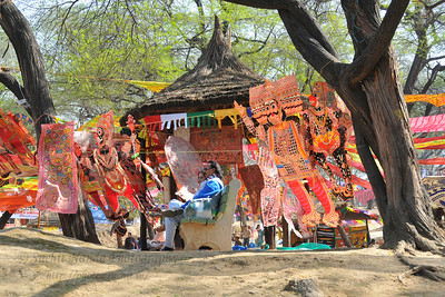 Many items on display and sale at Suraj Kund Mela 2010 which is held in Faridabad, Haryana (outskirts of Delhi), North India. The Suraj Kund Mela is an annual fair held near Delhi in February. Visitors get to experience folk dances, handicrafts and taste lots of delicious food.