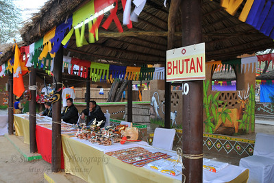 Bhutan and other SAARC countries put up stalls selling various items. Plenty of opportunity for shopping deals, bargains and purchases or just enjoy the performances at the Surjakund Crafts Mela 2010 held in February in Faridabad, Haryana, India.