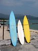 Surfboard rentals at the beach