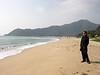 Susan Wei on the beach