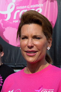 Nancy G. Brinker promised her dying sister, Susan G. Komen, she would do everything in her power to end breast cancer forever. In 1982, that promise became Susan G. Komen for the Cure and launched the global breast cancer movement. Close to 50,000 breast cancer survivors and activists descended on the National Mall in Washington D.C. on June 5, 2010 for the 21st annual Susan G. Komen Global Race for the Cure. The event raises millions of dollars for the fight against breast cancer. (Photo by Jeff Malet)