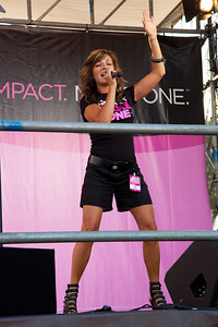 "Close to 50,000 breast cancer survivors and activists descended on the National Mall in Washington D.C. on June 5, 2010 for the 21st annual Susan G. Komen Global Race for the Cure. Participants were treated to a live performance of ""Pink Warrior,"" an inspiring song by singer/songwriter Candy Coburn. Coburn also debuted her soon-to-be released single ""Ain't No Rodeo.""The event raises millions of dollars for the fight against breast cancer. (Photo by Jeff Malet)"