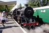 Standard 4 Tank steam locomotive at Swanage railway station September 2009