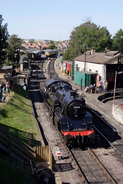 British Rail Standard 4 Tank steam locomotive at Swanage September 2009