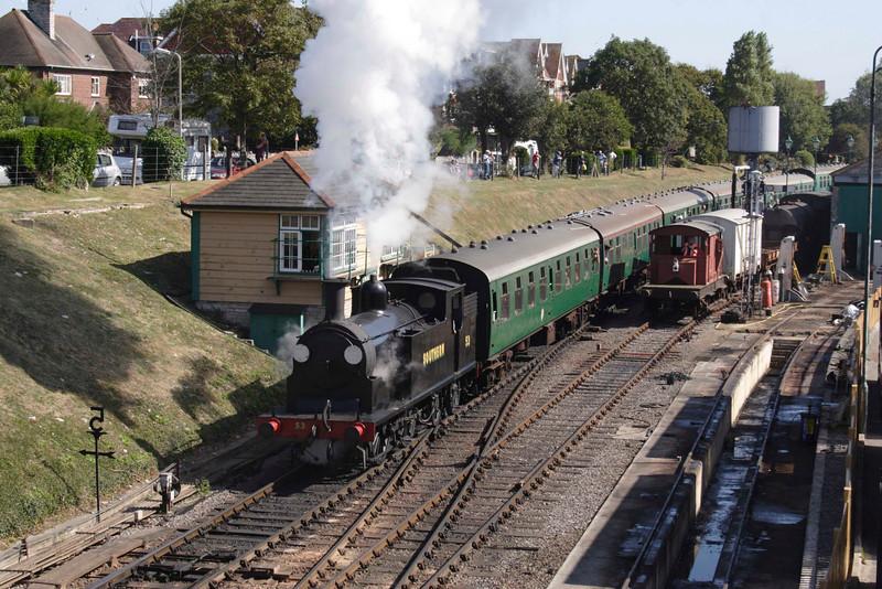M7044 Tank steam locomotive at Swanage September 2009