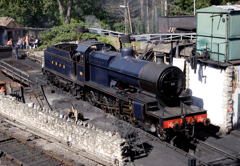 Fowler 280 steam locomotive at Swanage September 2009